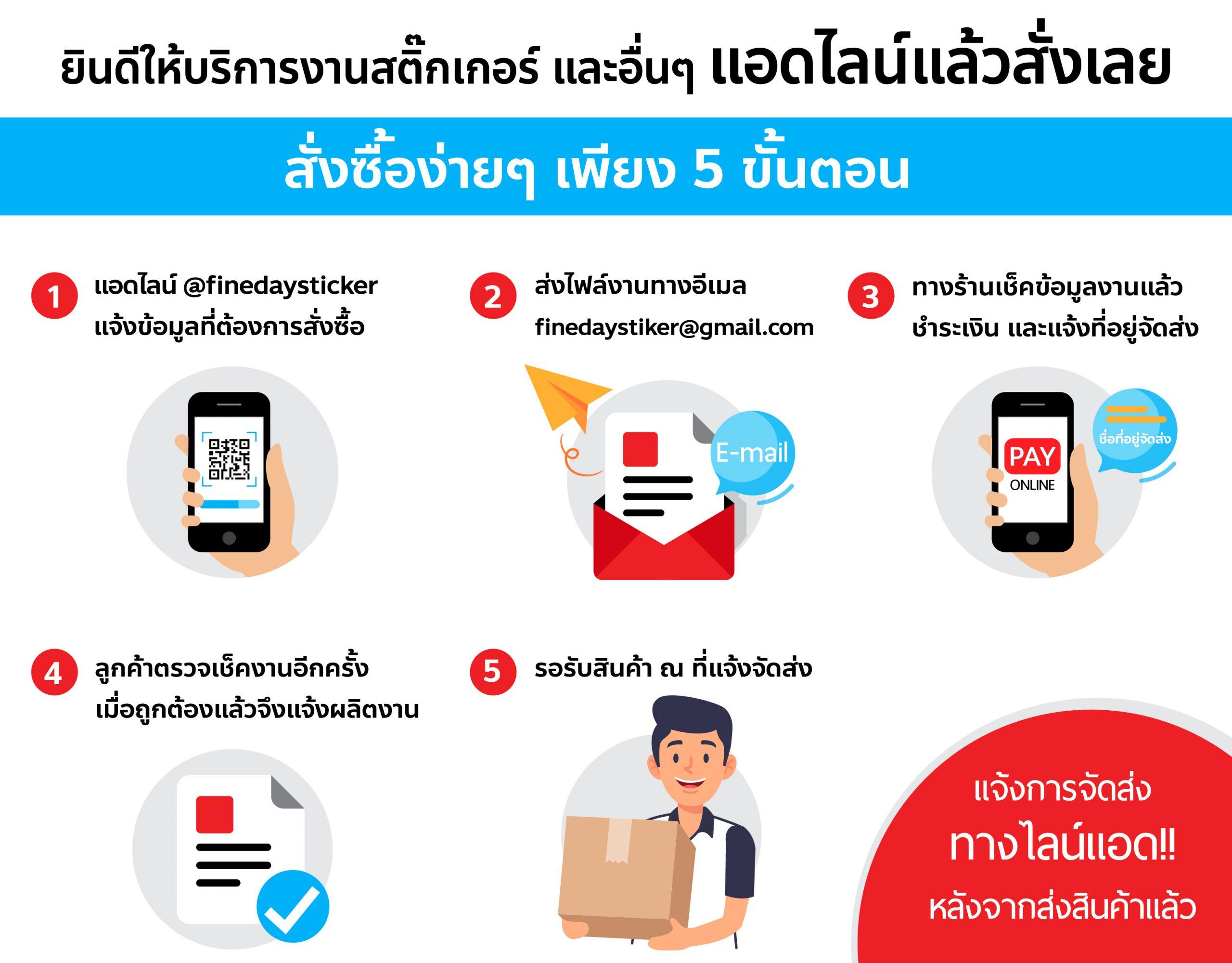 How to order รับพิมพ์สติ๊กเกอร์